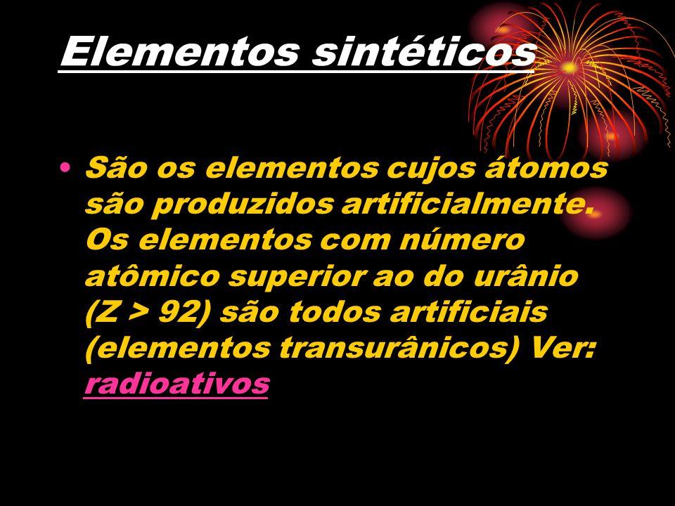 Elementos sintéticos