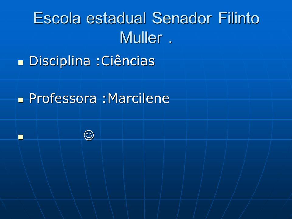 Escola estadual Senador Filinto Muller .
