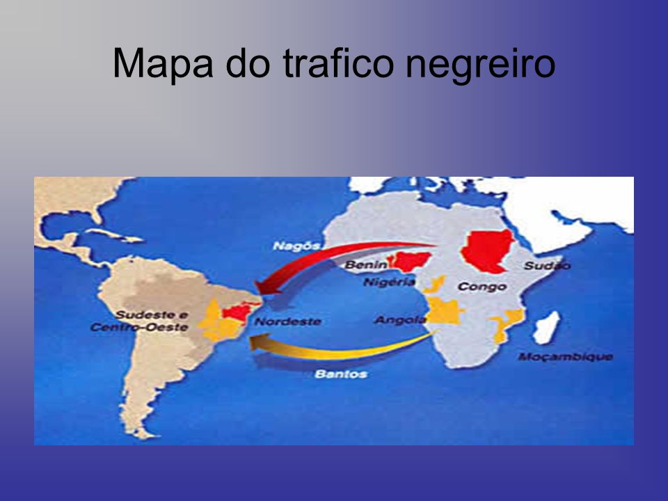 Mapa do trafico negreiro