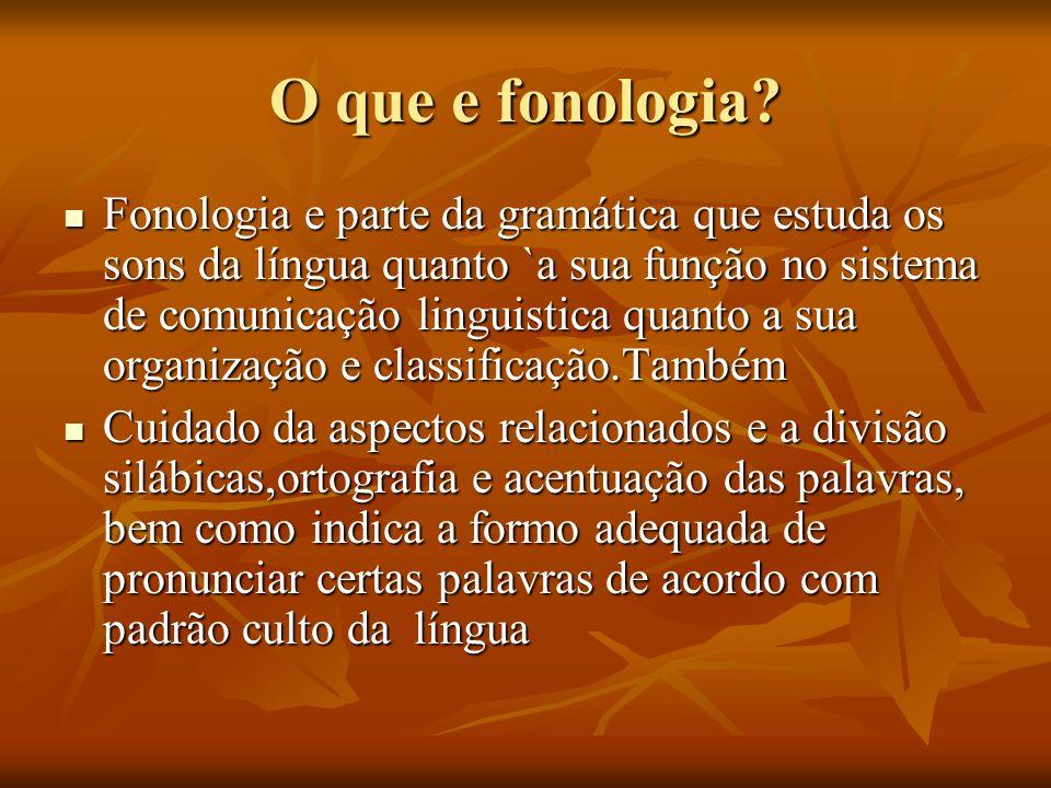 O que e fonologia