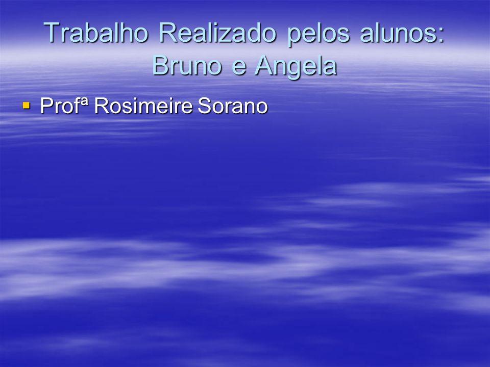 Trabalho Realizado pelos alunos: Bruno e Angela