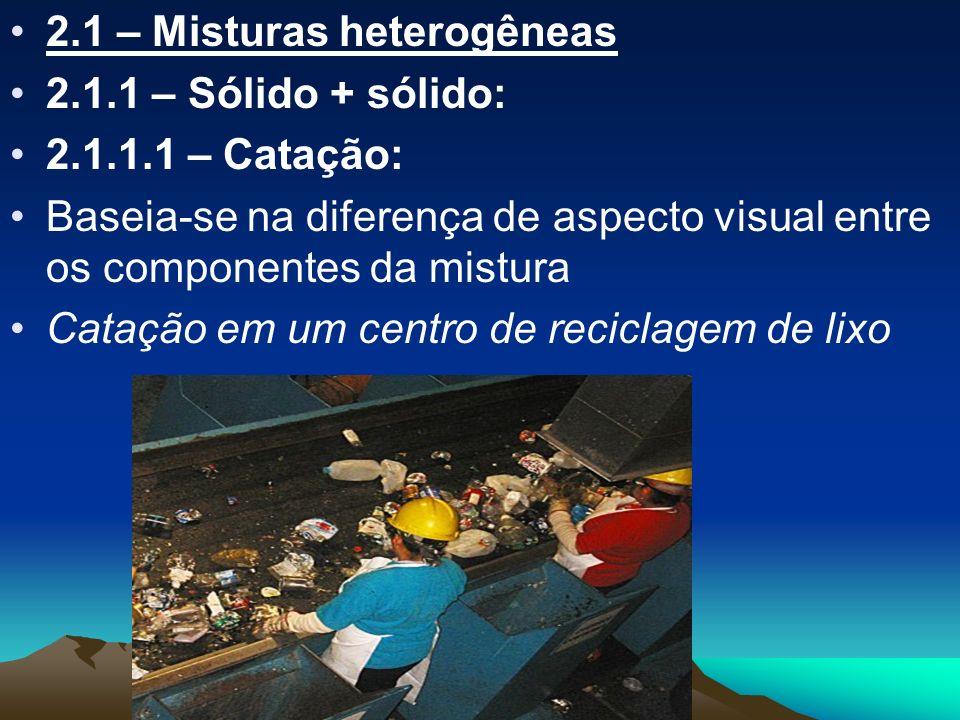 2.1 – Misturas heterogêneas