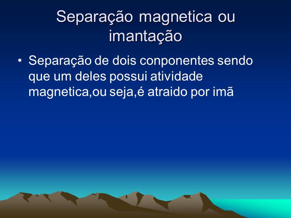 Separação magnetica ou imantação