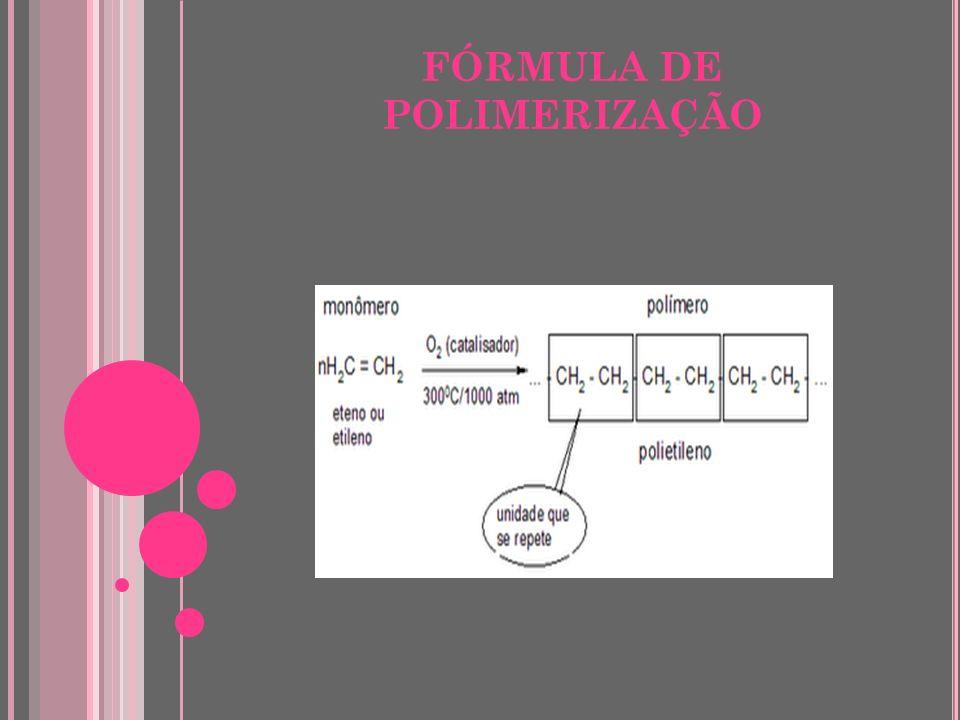 FÓRMULA DE POLIMERIZAÇÃO