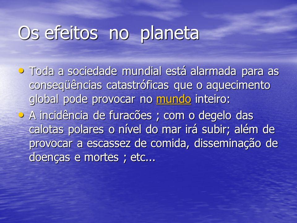 Os efeitos no planeta