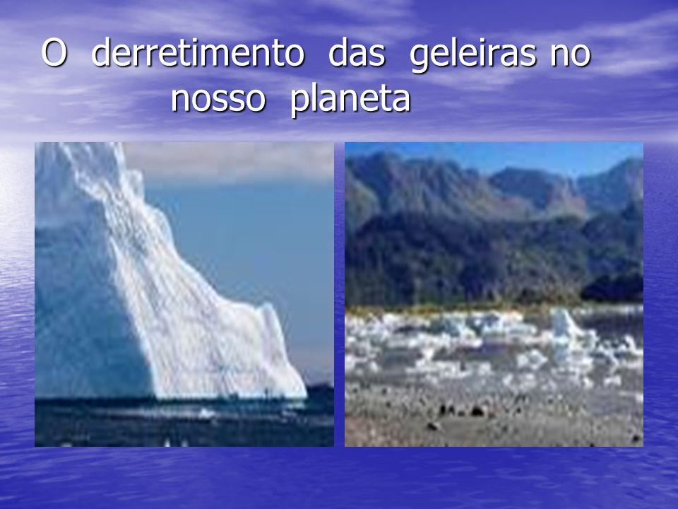 O derretimento das geleiras no nosso planeta
