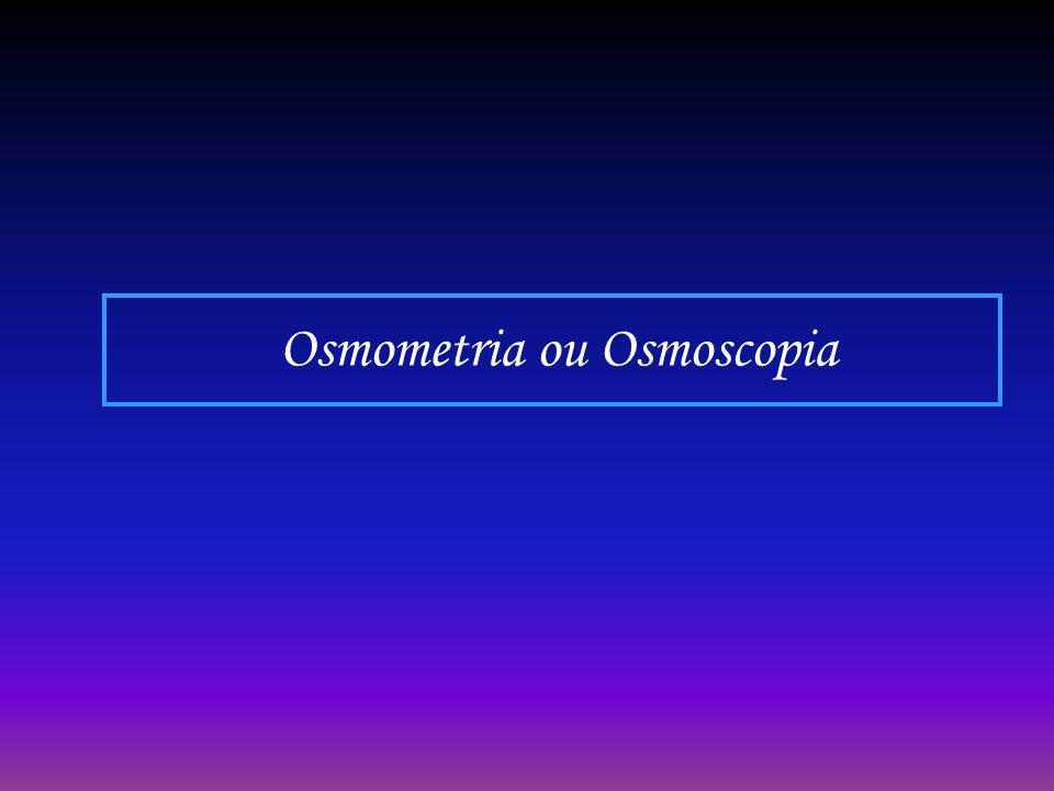 Osmometria ou Osmoscopia