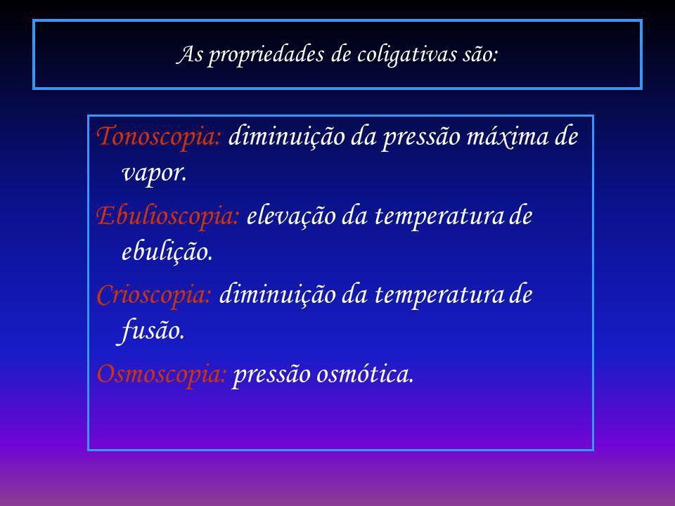 As propriedades de coligativas são: