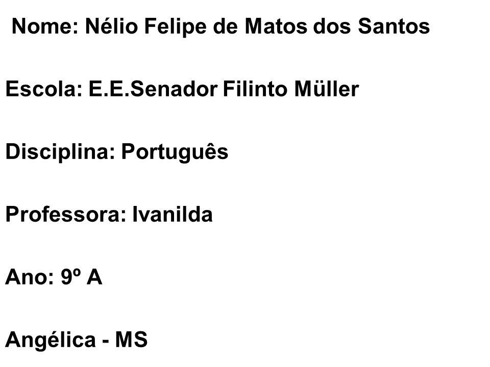 Nome: Nélio Felipe de Matos dos Santos