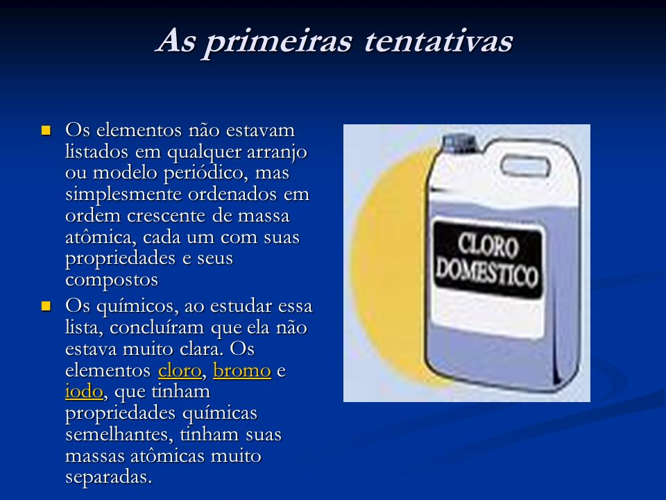 As primeiras tentativas