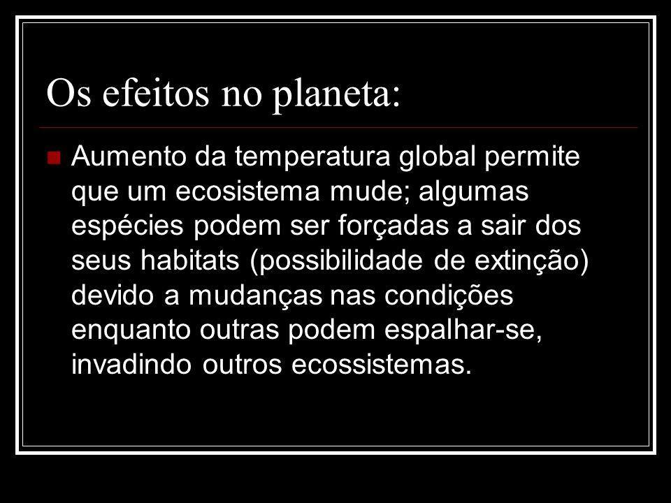 Os efeitos no planeta: