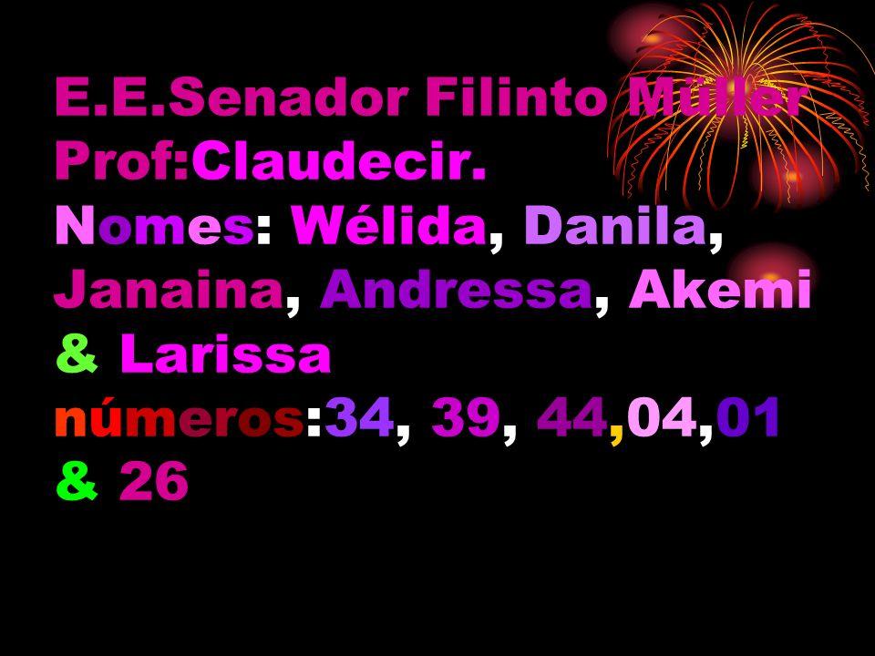 E. E. Senador Filinto Müller Prof:Claudecir
