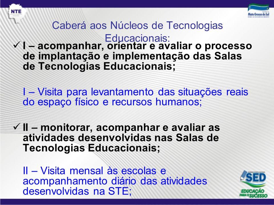 Caberá aos Núcleos de Tecnologias Educacionais: