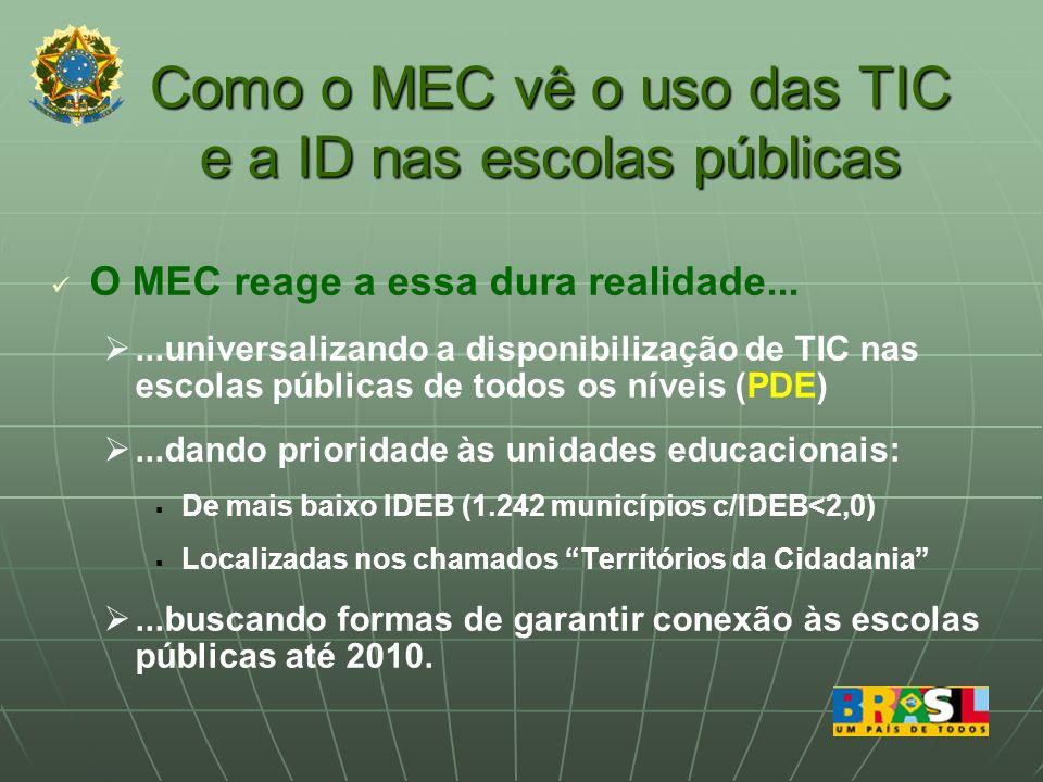 Como o MEC vê o uso das TIC e a ID nas escolas públicas
