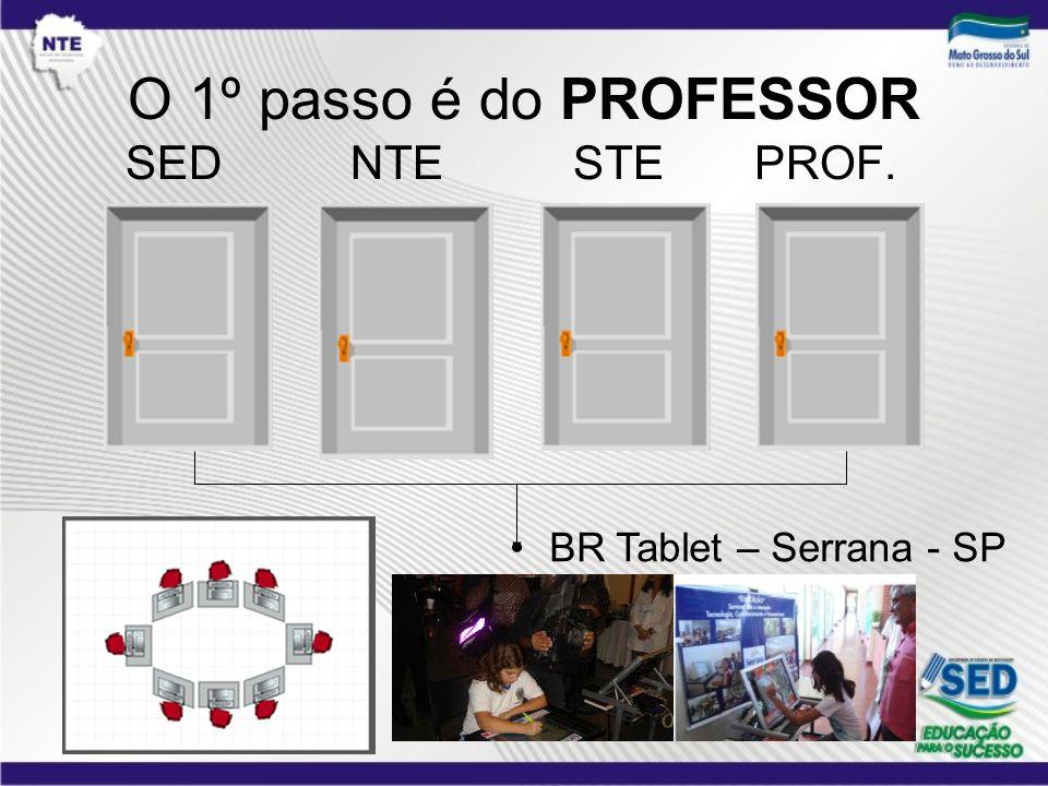 O 1º passo é do PROFESSOR SED NTE STE PROF. BR Tablet – Serrana - SP