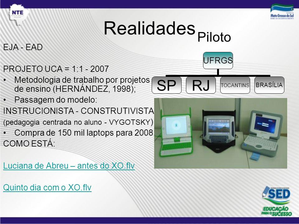 Realidades Piloto EJA - EAD PROJETO UCA = 1:1 - 2007