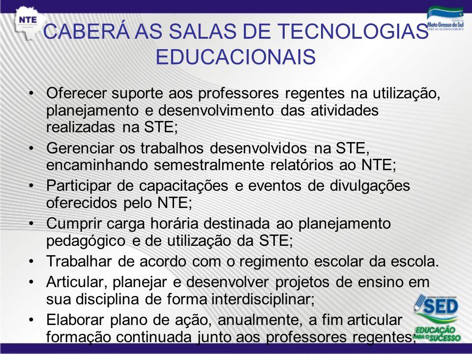 CABERÁ AS SALAS DE TECNOLOGIAS EDUCACIONAIS