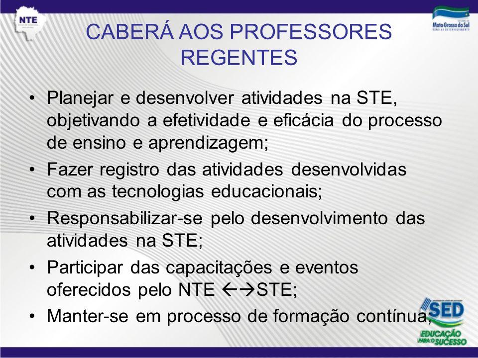 CABERÁ AOS PROFESSORES REGENTES