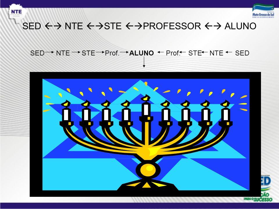 SED  NTE STE PROFESSOR  ALUNO