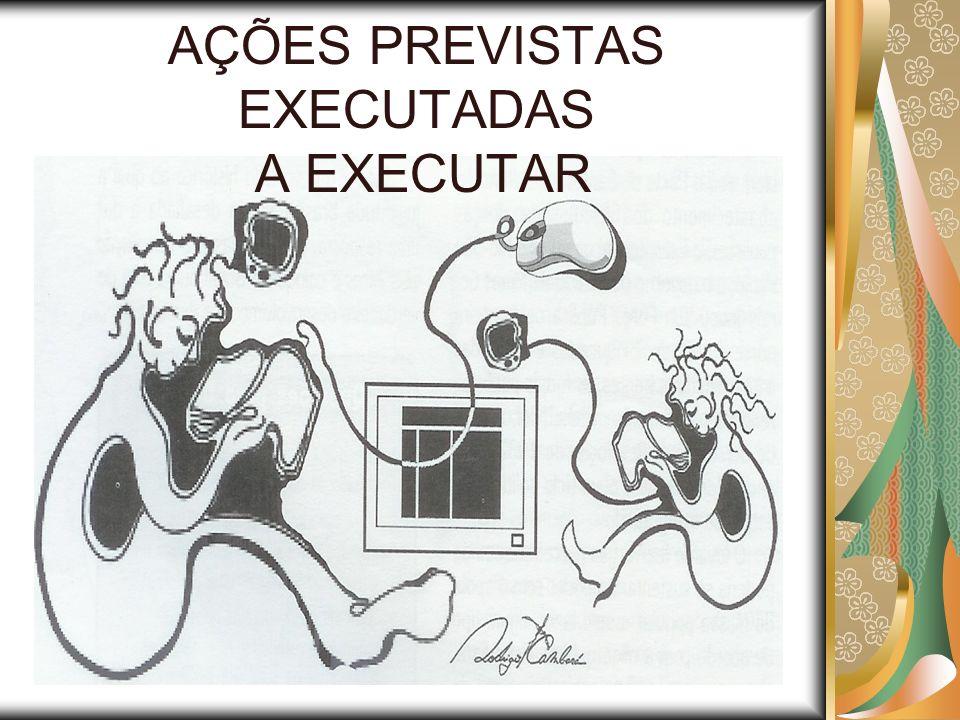 AÇÕES PREVISTAS EXECUTADAS A EXECUTAR