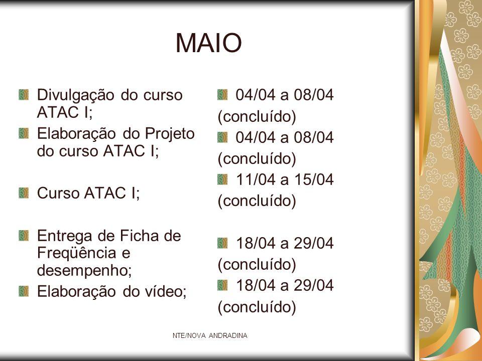 MAIO Divulgação do curso ATAC I;