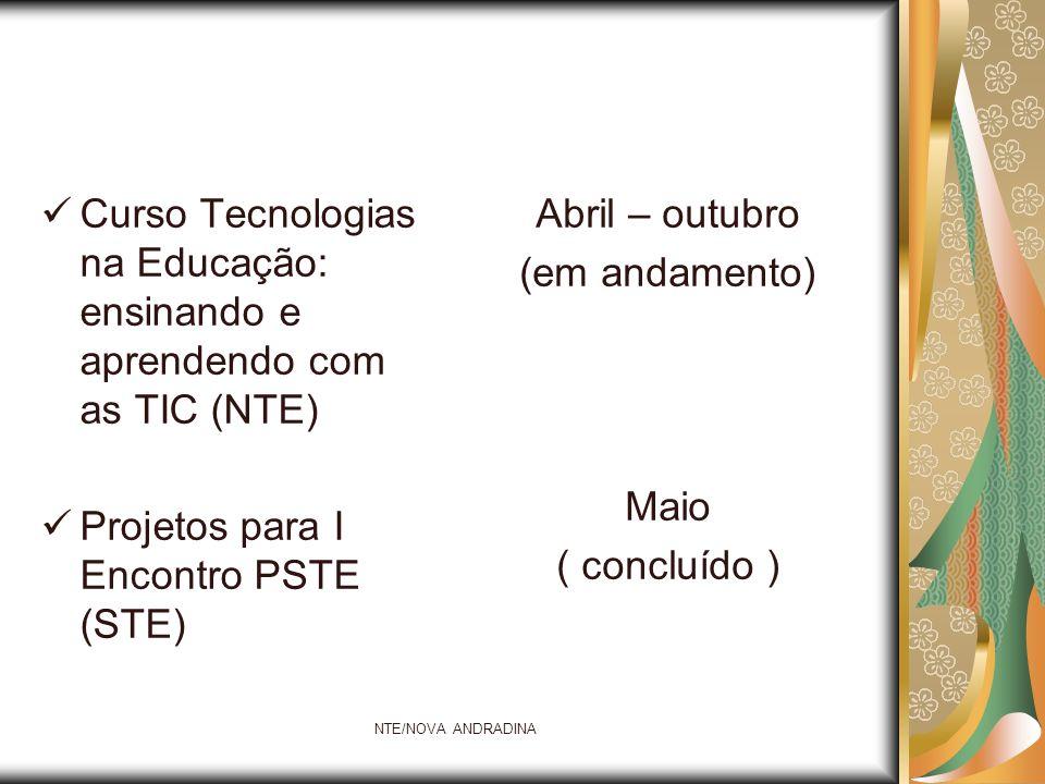 Curso Tecnologias na Educação: ensinando e aprendendo com as TIC (NTE)