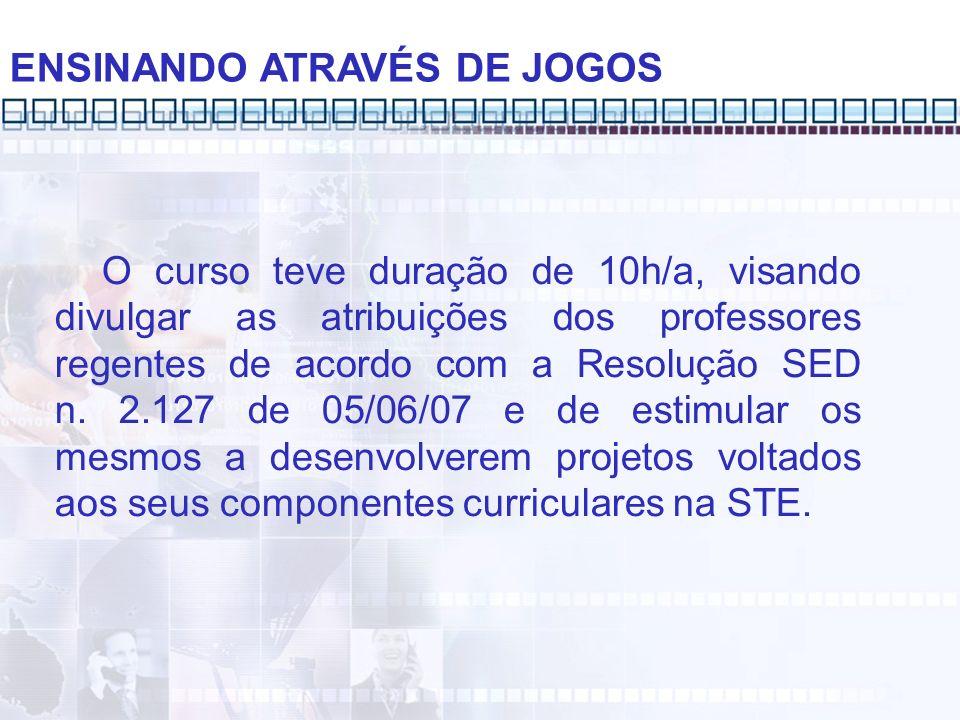 ENSINANDO ATRAVÉS DE JOGOS