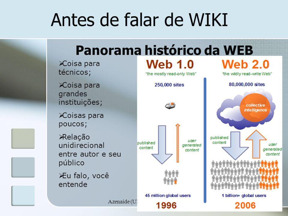Panorama histórico da WEB