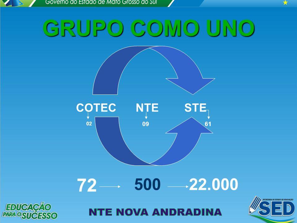 GRUPO COMO UNO 72 500 22.000 COTEC NTE STE 02 09 61