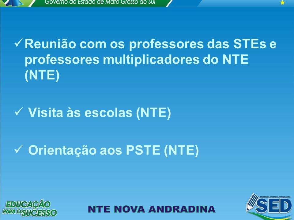 Reunião com os professores das STEs e professores multiplicadores do NTE (NTE)