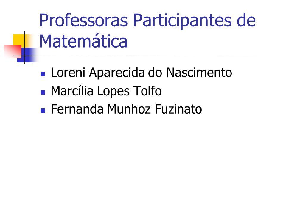 Professoras Participantes de Matemática