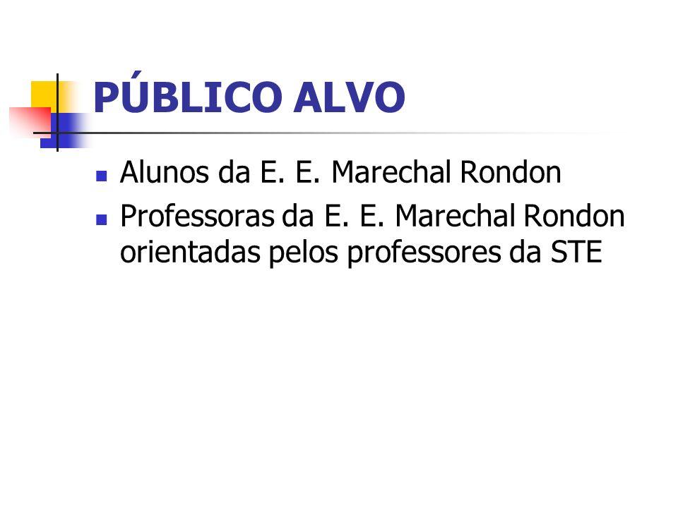 PÚBLICO ALVO Alunos da E. E. Marechal Rondon