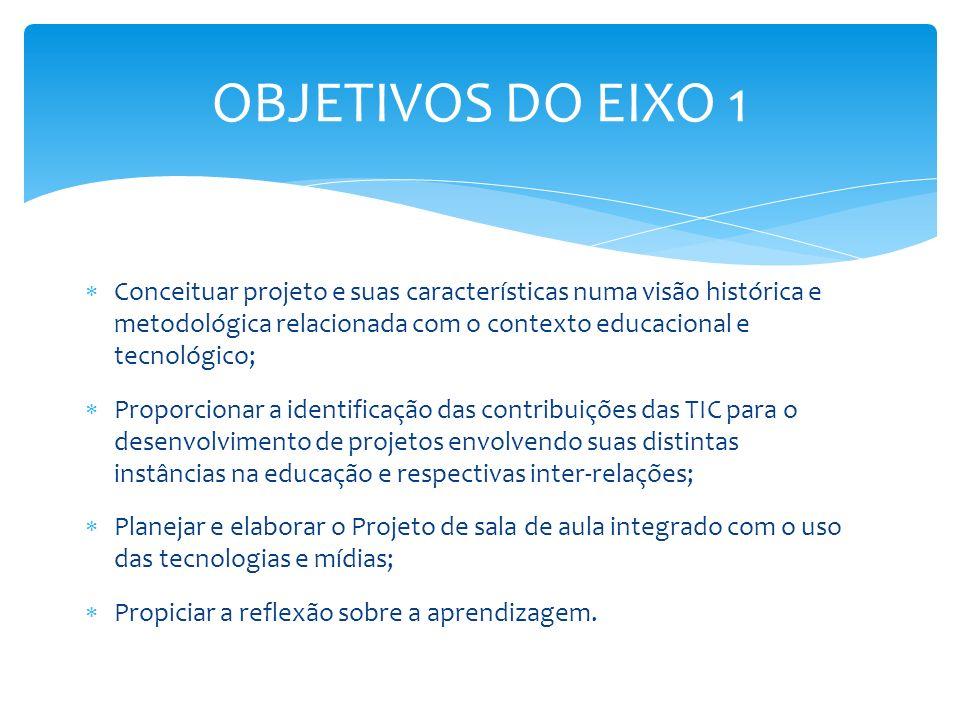 OBJETIVOS DO EIXO 1