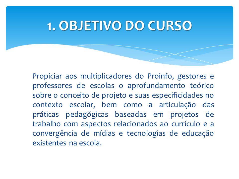 1. OBJETIVO DO CURSO