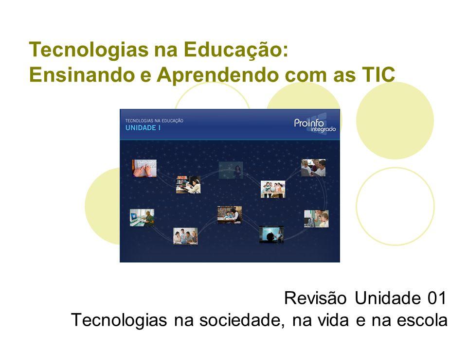 Revisão Unidade 01 Tecnologias na sociedade, na vida e na escola