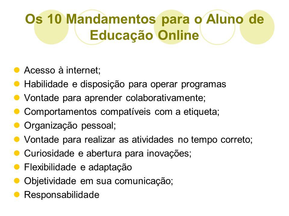 Os 10 Mandamentos para o Aluno de Educação Online