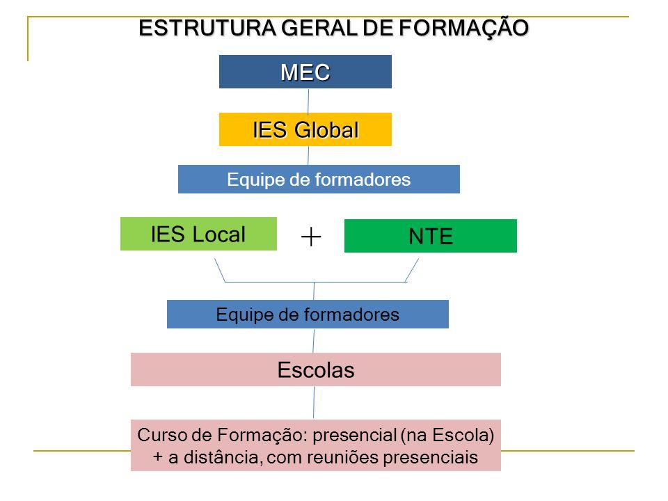 ESTRUTURA GERAL DE FORMAÇÃO