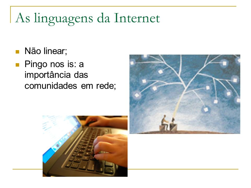 As linguagens da Internet