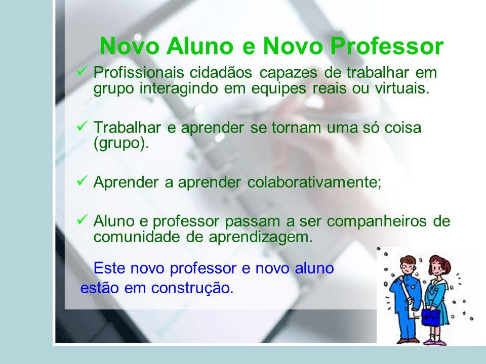 Novo Aluno e Novo Professor