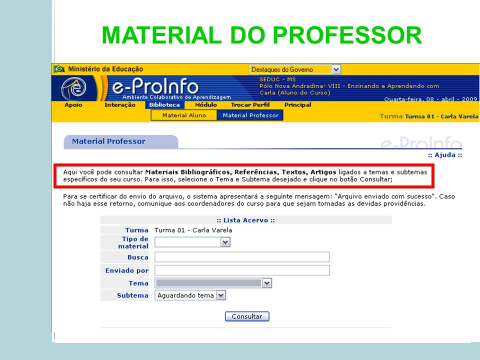 MATERIAL DO PROFESSOR