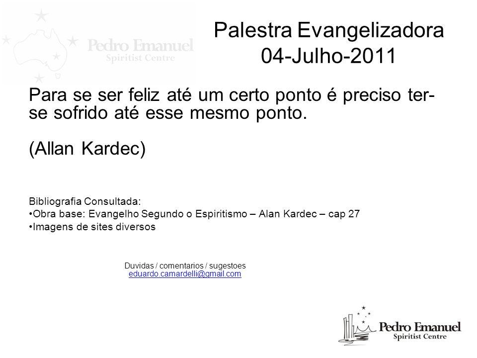 Palestra Evangelizadora 04-Julho-2011