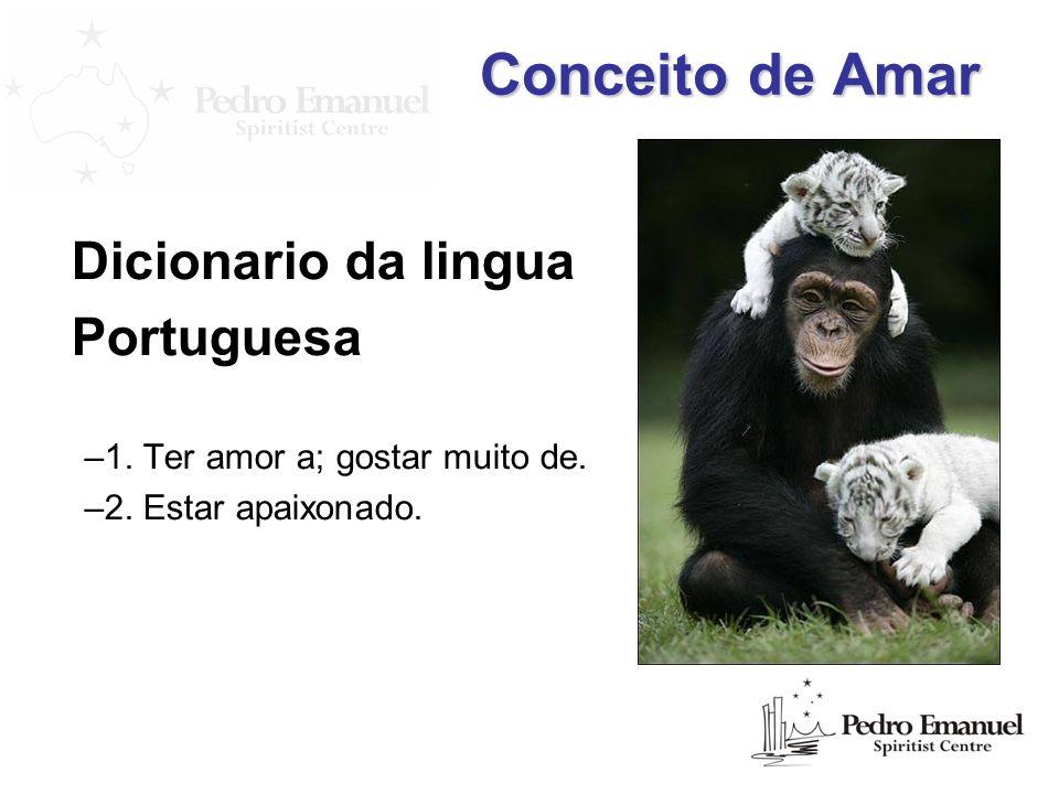 Conceito de Amar Dicionario da lingua Portuguesa