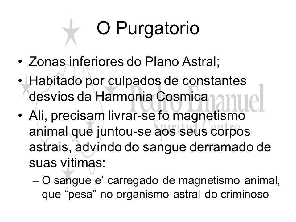 O Purgatorio Zonas inferiores do Plano Astral;