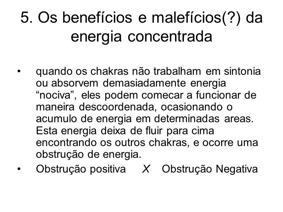 5. Os benefícios e malefícios( ) da energia concentrada