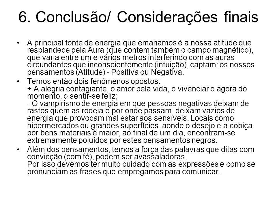 6. Conclusão/ Considerações finais