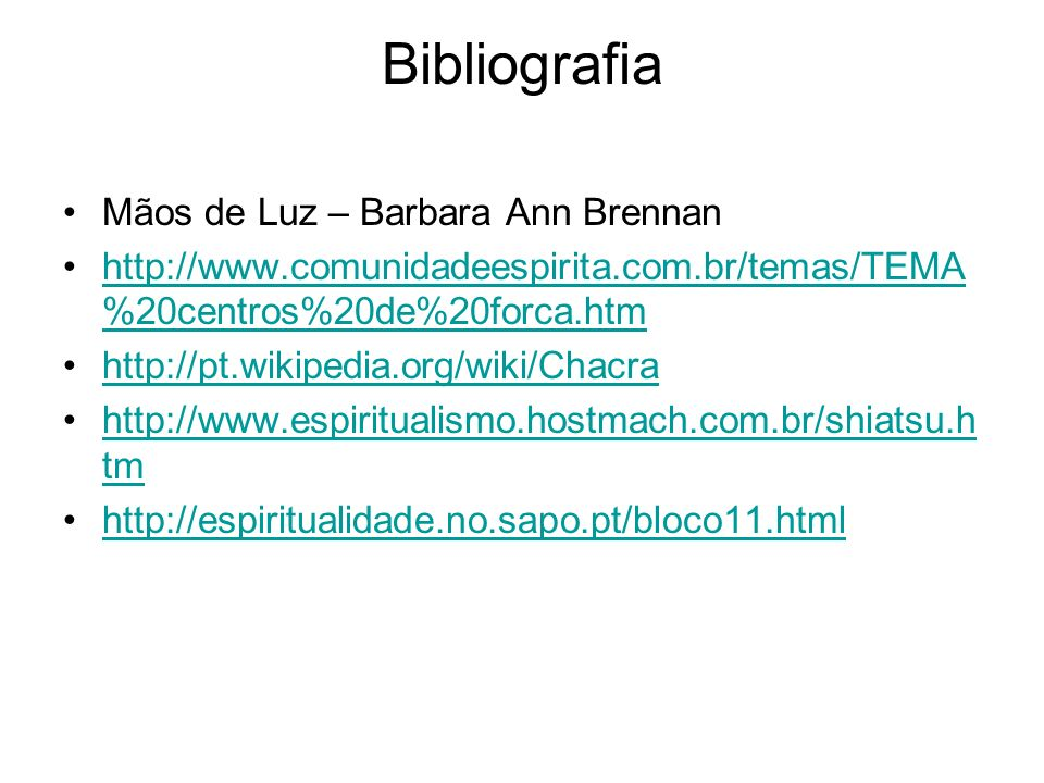Bibliografia Mãos de Luz – Barbara Ann Brennan