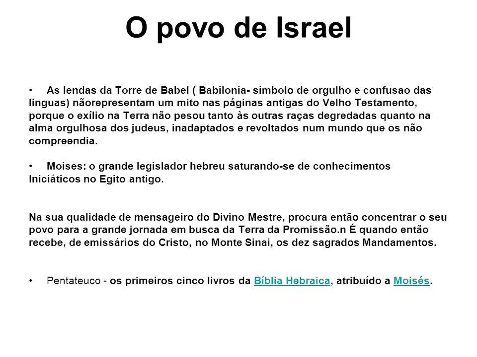 O povo de Israel As lendas da Torre de Babel ( Babilonia- simbolo de orgulho e confusao das.