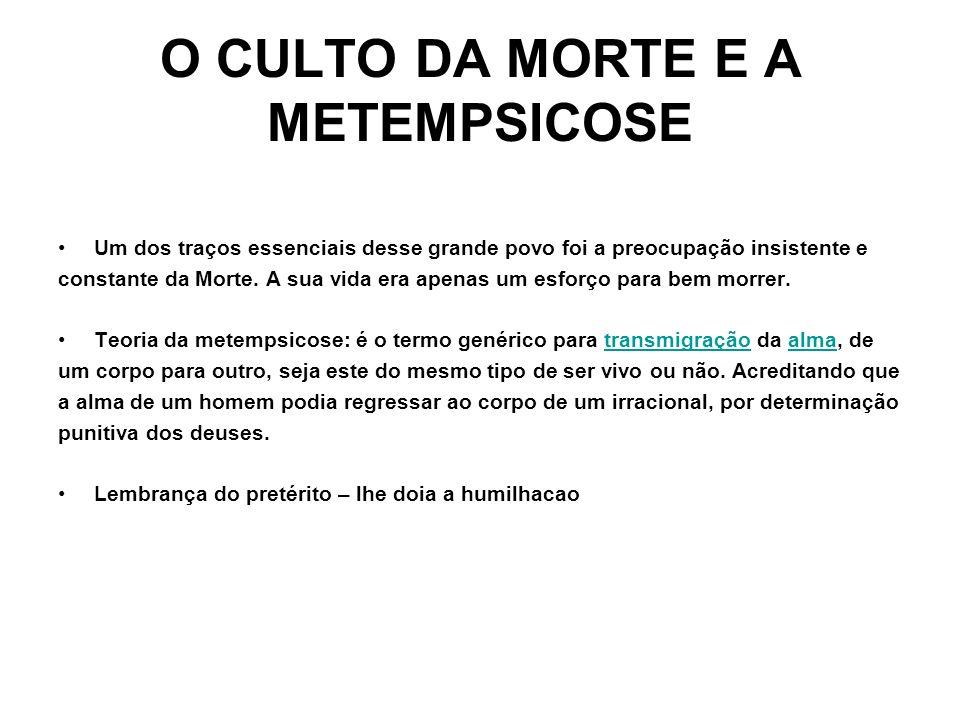 O CULTO DA MORTE E A METEMPSICOSE