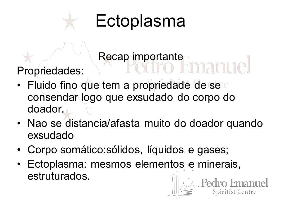 Ectoplasma Recap importante Propriedades: