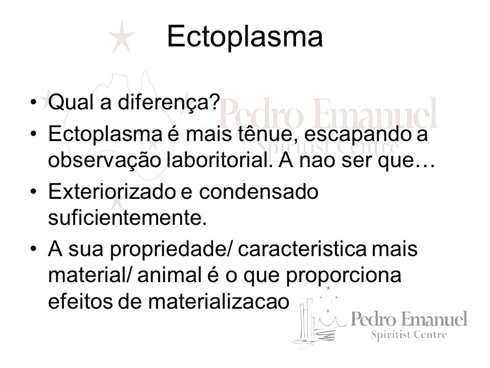 Ectoplasma Qual a diferença